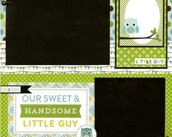 Our Sweet & Handsome Little Guy - Premade Scrapbook Page