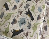 Dinosaur Fabric, Boy Quilt, Nursery Ideas, Christmas Gift, Dino Party, Dinosaurs by Riley Blake, Main in Gray - Choose the cut