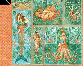 ON SALE Graphic 45 Voyage Beneath the Sea  Mermaid Melody Scrapbook Paper