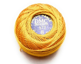 DMC Pearl Cotton Balls Size 8 | 972 Deep Canary Yellow