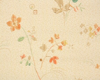 1930s Vintage Wallpaper by the Yard - Antique Floral Wallpaper Art Deco