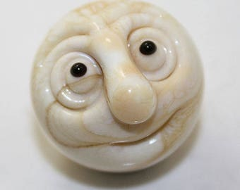 """Mini Man in the Moon marble in Ivory  15/16"""""""