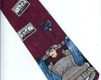 COW Necktie Couch Potato By Hallmark    58 Inches Long  Neck Tie