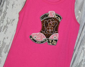 Going out of business SALE, Western wear,  girls boot tank top ,size 7/8 girls top, Ready to ship