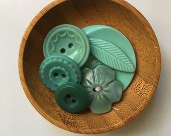 Vintage Tourquoise Buttons