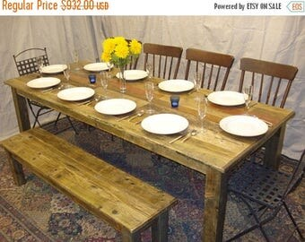"ON SALE Driftwood Table  (80""L x 38""W x 29""H) with Poly Finish"