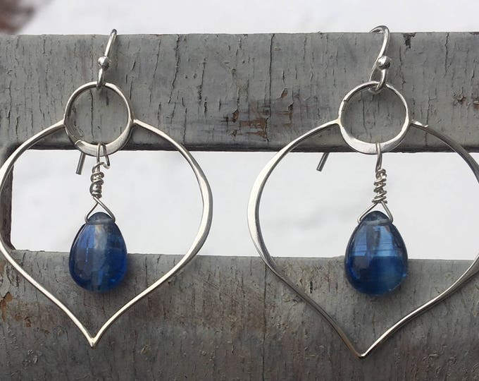 Featured listing image: Sterling Silver Kyanite Openwork Earrings