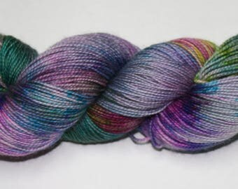 Don't Trust the Bubbles Hand Dyed Sock Yarn
