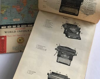 Vintage Typewriter - Fabulous Antique Book with early 1930s 40s Graphics