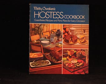 Vintage 1972 Spiral Hardback Betty Crocker's Hostess Cookbook