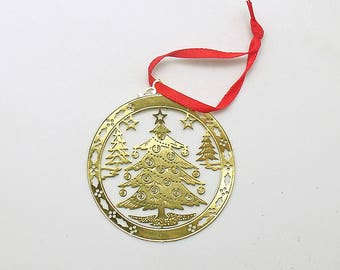 Vintage Christmas Ornament Metal Christmas Tree