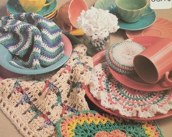 Annies Attic Pretty Dishcloths Crochet Pattern