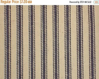 SALE SALE SALE Flawed Old Time Ticking | Blue Ticking |  Woven Stripe Ticking |  Cotton Ticking Cloth  | 40 x 32