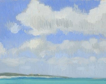 Cumulus Clouds over Providenciales, Turks and Caicos Islands