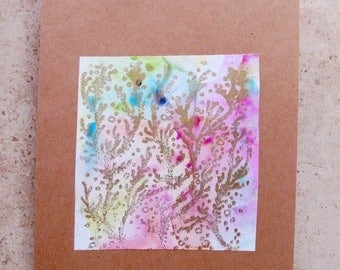 Summer SALE Handpainted and one-of-a-kind card, artisan made by Bianca