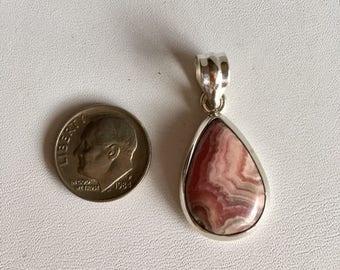 Rhodochrosite Pendant-Pink Gemstone Pendant