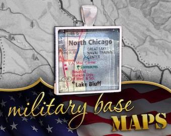 Great Lakes Training Station Map Pendant