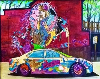 Contemporary Art - Modern Art - Art Print - Kensington Market - Toronto - Canada - Wall Art - Graffiti Art