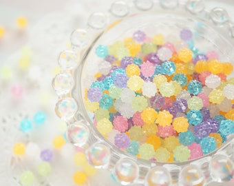 35 pcs Confetti Beads/Plastic Motif (6mm) CD378