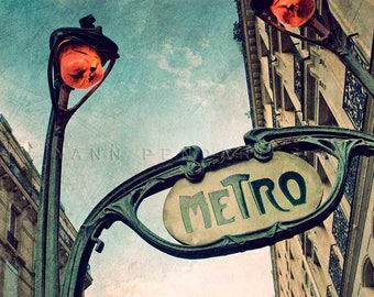 Paris France, Paris Photo, Photography Paris, Metro Sign, industrial design, Paris Metro decor, steampunk decor, steampunk art, steampunk