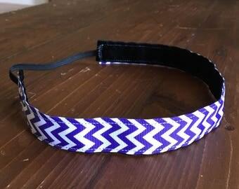 Non-slip chevron headband