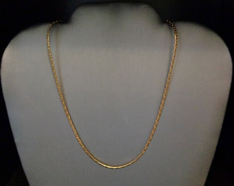 "18K Gold Plated 20"" Chain Necklace - Vintage - 1960s"