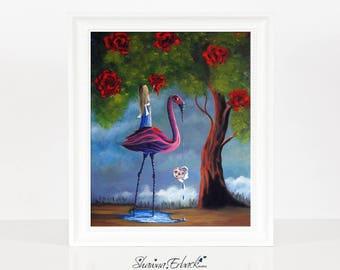 Alice In Wonderland - Limited Edition Print - Wonderland Art - Remarqued 8x10 - Home Decor - Giclee - Print - Fairytale Stories - 8x10 Print