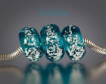Handmade Lampwork Big Hole Bead by BluDragonfly SRA - European Charm Bead