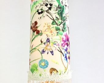 Lampe de table/lampe de chevet/lampe jardin de fleurs/fleurs multicouleurs/ décoration interieur/unique/lampe tubulaire/les lampes de marie