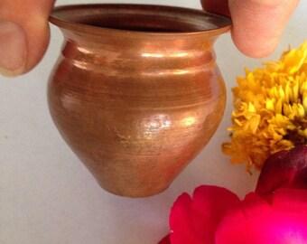 Small Ayurvedic or Hindu Puja Copper Kaliash Lota