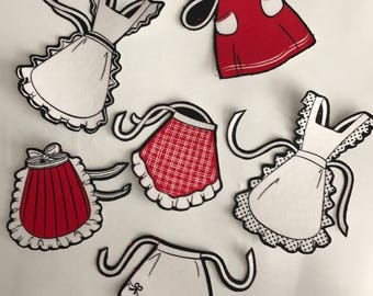 NEW! Adorable Aprons - Iron On Fabric Appliques