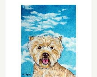 20% off West Highland White Terrier With the Sky Dog Art Print