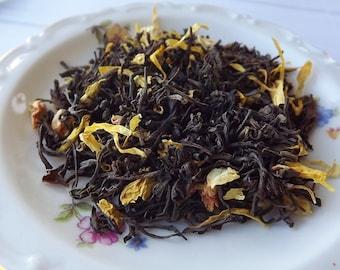 Sunshine Cottage Tea, Black Tea, Loose Leaf Tea, Citrus Tea, Tropical Fruit Tea, Wedding Favor, Tea Party Gift, Shower Favor, Iced Tea