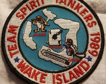 Team spirit tankers 1989 wake island military patch