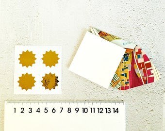 Square Map Envelopes {4 w Cards + Seals} | Map Note Sets Map Envelopes | Gift under 5 | Map Stationery | Travel Theme | Escort Florist Cards