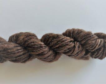 Natural Brown Handspun Wool- Thick & Thin