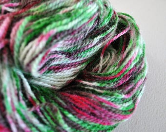 Peppermint.  Handpainted Wool Yarn 2 Ply DK weight