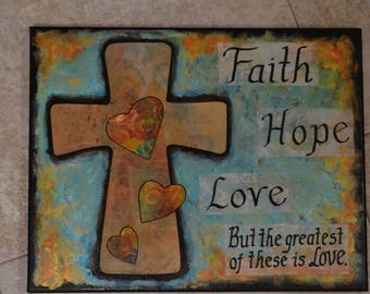 Faith, Hope Love Painting