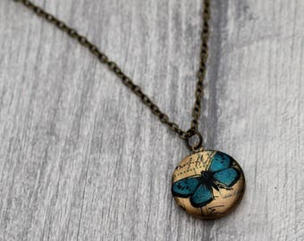 Butterfly Locket Necklace