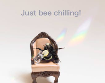 This bee chilling!  Print