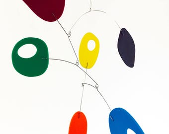 Midcentury Multi Color Retro Mobile by Atomic Mobiles - 3 Sizes - Calder Inspired Style