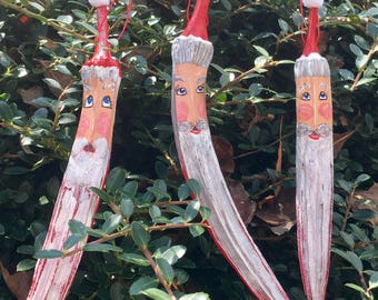 Santa Okra Ornaments