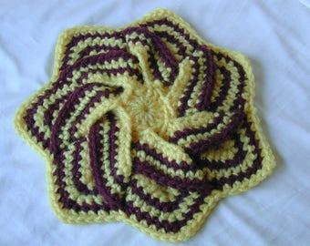 Star Flower Hot Pad Crochet
