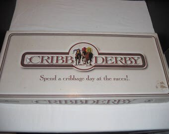 Cribb Derby  Horse Racing Cribbage Board Game by JK Games 1994 100% Complete