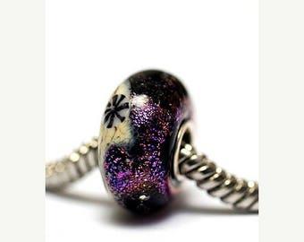 ON SALE 35% OFF Large Hole Amethyst Jewel Celestial Rondelle - Sc10112-Handmade Glass Lampwork Beads