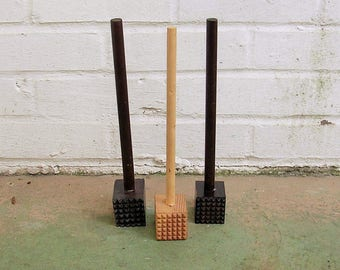 3Vintage Wood Wooden Meat Mallets Meat Tenderizers Vintage Potato Mashers Vintage Kitchen Utensils