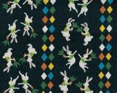 Sale! Fat Quarter of Yuwa Kei Japanese Fabric - Carrot Dance designed by Anyan