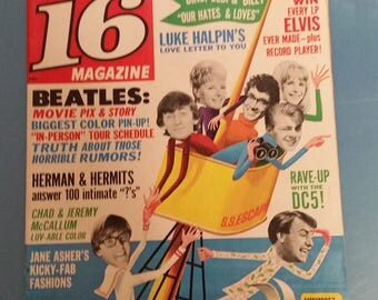 Vintage 16 Magazine July 1965 Issue.