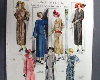 124  Colorful and Simple Dress Patterns  Ad From  April 1922   Womans Mag.