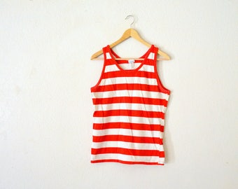 1960's Red Striped Tank-Top